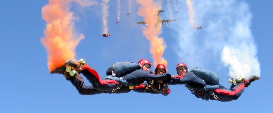 2015 Flying Display: RAF Falcons Parachute Display Team